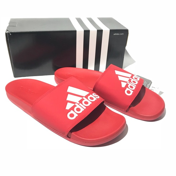 5a745d762 NWT Adidas Red Slide Sandals Men s Size 11